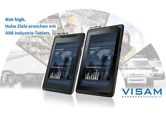 Mobile productivity with industrial tablet PCs and application-specific equipment.