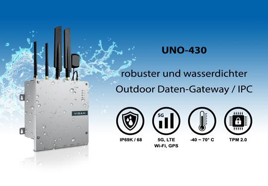 Jetzt Neu UNO-430: Super-robuster Outdoor Daten-Gateway mit Schutzklasse IP69K.