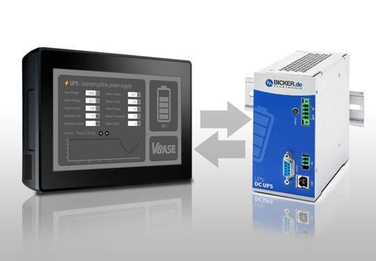 VBASE überwacht die Daten und den Zustand der neuen Bicker DC-USV mit Supercaps.