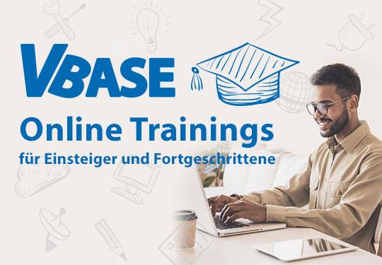 Weiterbildung mit VBASE Online Trainings auch im Homeoffice.